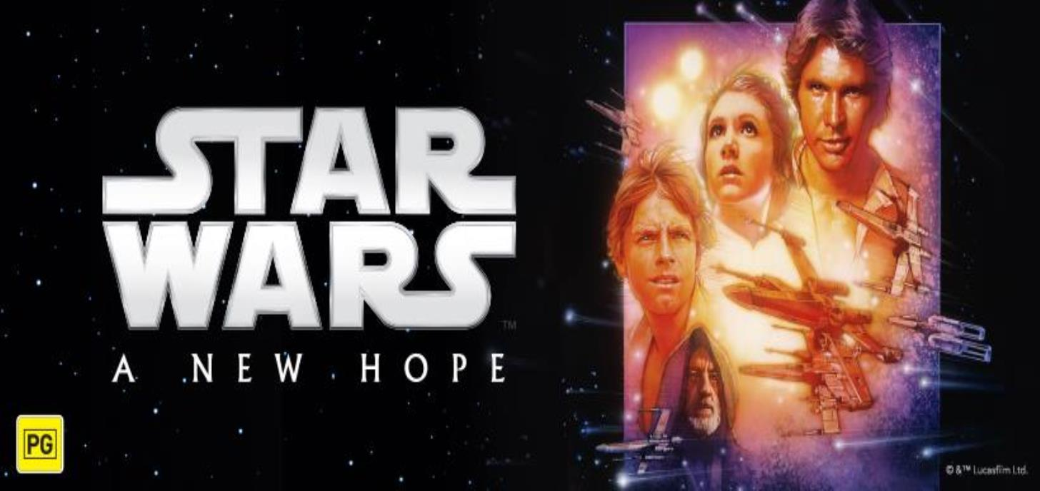Now Showing: Star Wars: Episode IV A New Hope
